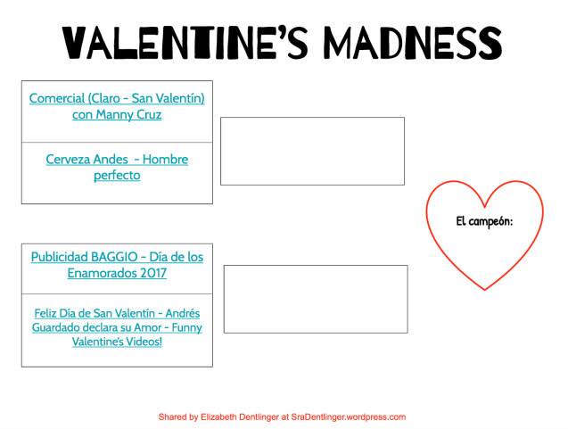 Valentine's Madness | Shared by Elizabeth Dentlinger at SraDentlinger.wordpress.com